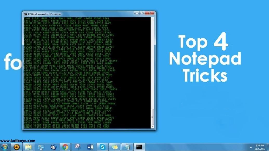 4 ترفند جالب با Notepad ویندوز