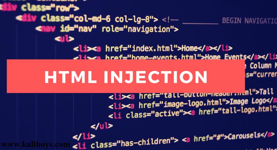 HTML Injection چگونه است؟ و یک مثال ساده از آن