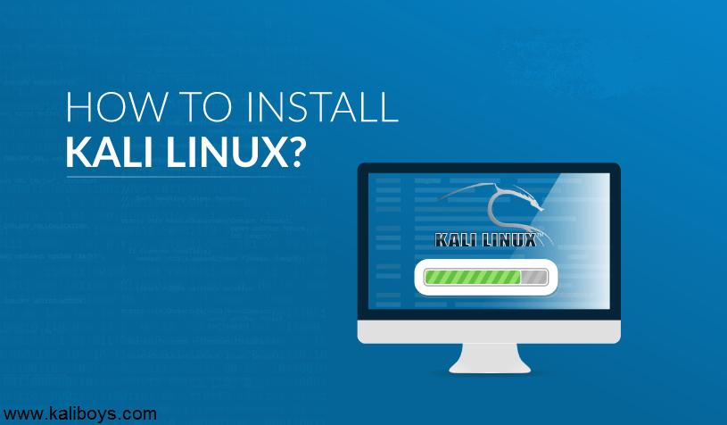 چگونه کالی لینوکس را نصب کنیم؟