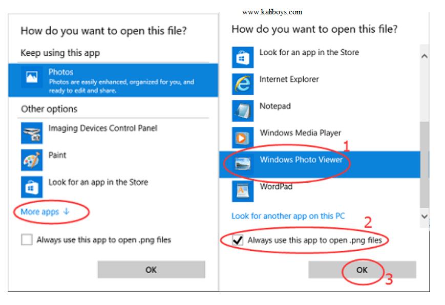 بازیابی Windows Photo Viewer در ویندوز 10