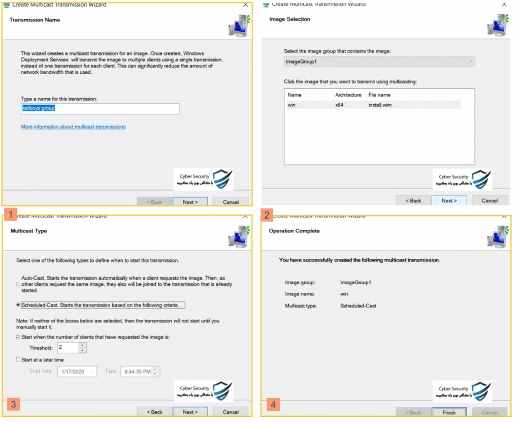 نصب WDS بر روی سرور به همراه سرویس های مورد نیاز