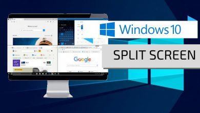 نحوه تقسیم صفحه نمایش (split screen) در ویندوز 10